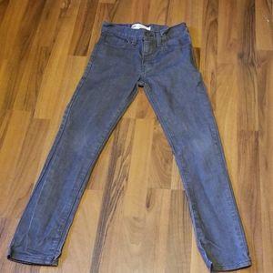 Levi's 510 Skinny Jeans Boy's Gray Denim